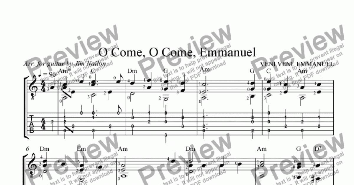 Liturgical Guitarist: O Come, O Come, Emmanuel (VENI, VENI, EMMANUEL)