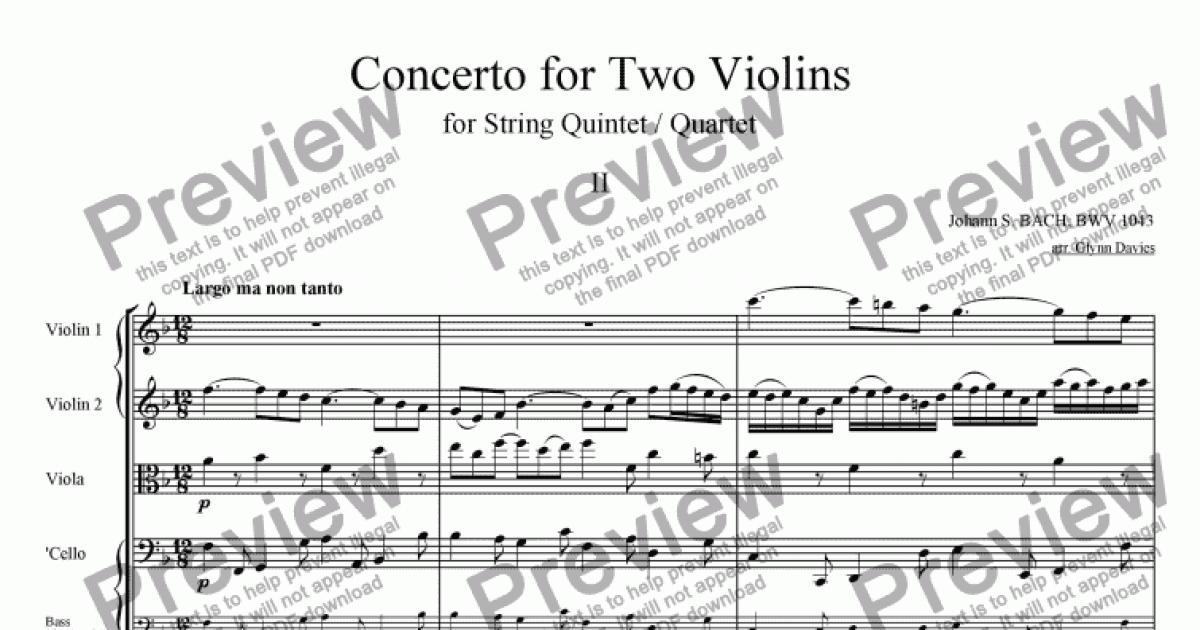 Concerto in D minor for 2 Violins - 2. Largo ma non tanto