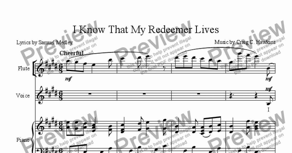 I Know That My Redeemer Lives for Large mixed ensemble by Craig Hawkins -  Sheet Music PDF file to download