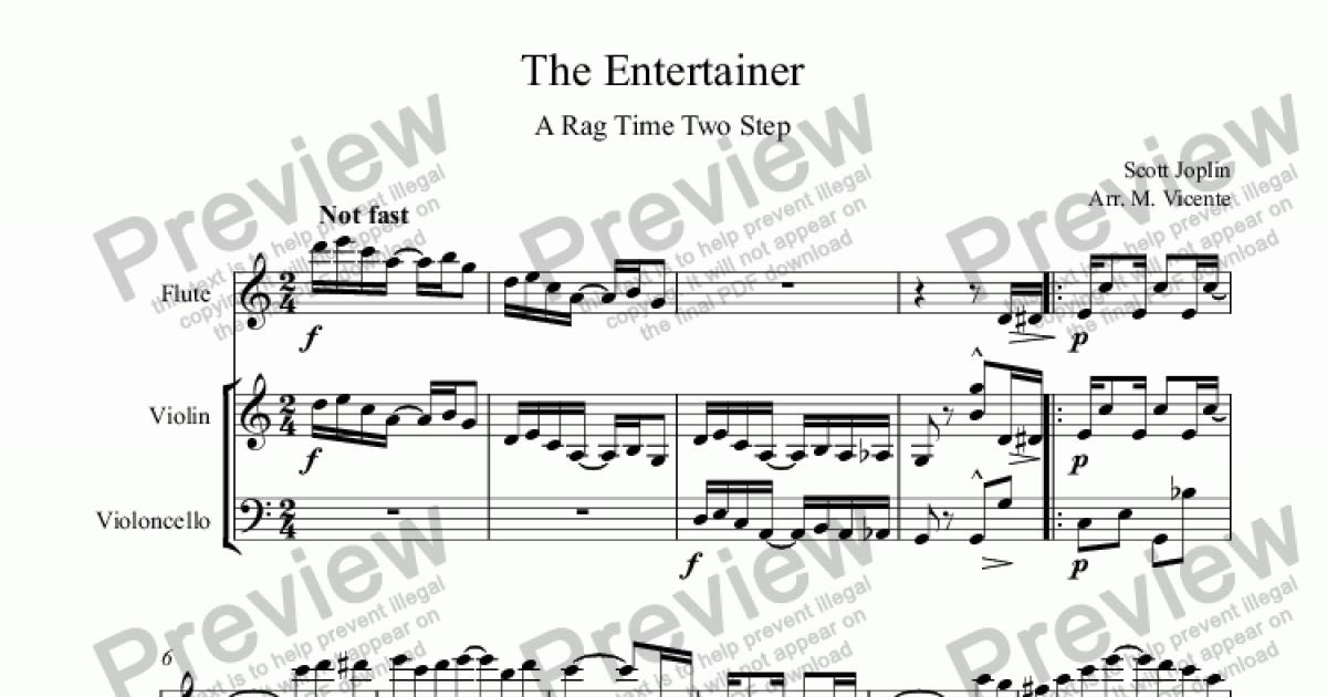The Entertainer for Trio by Scott Joplin - Sheet Music PDF file to download
