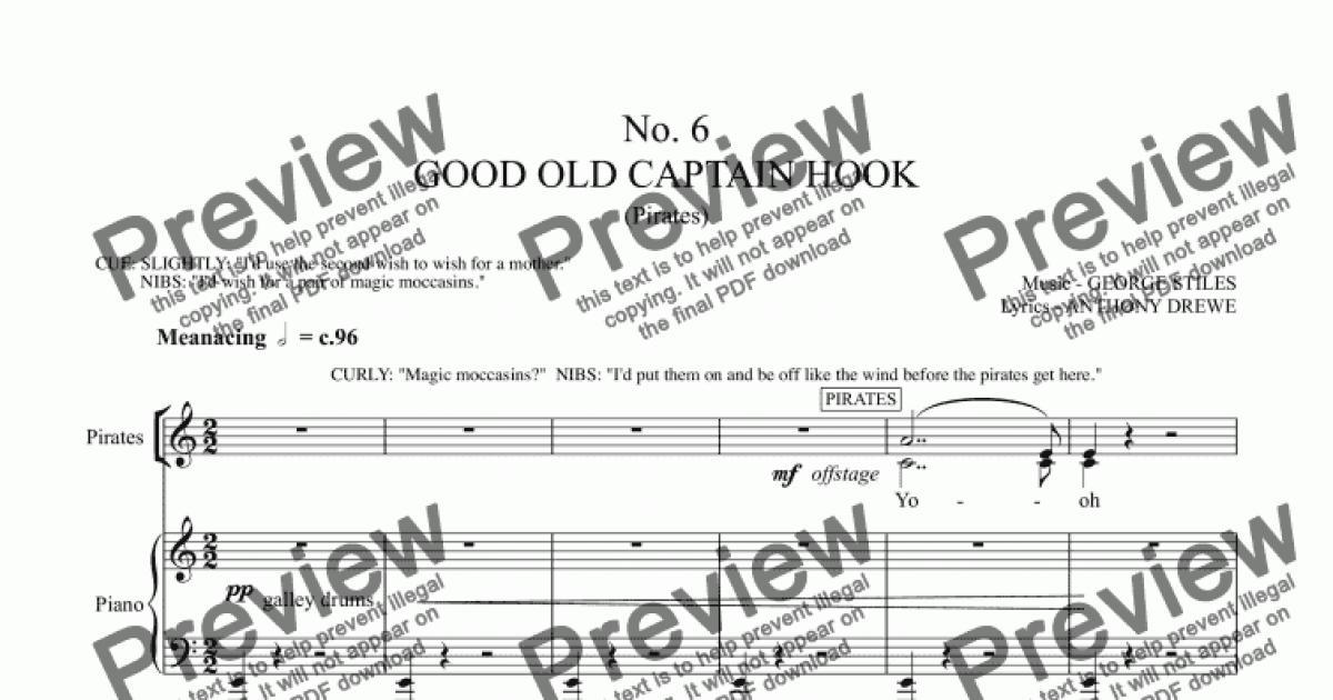 good old captain hook  download sheet music pdf file