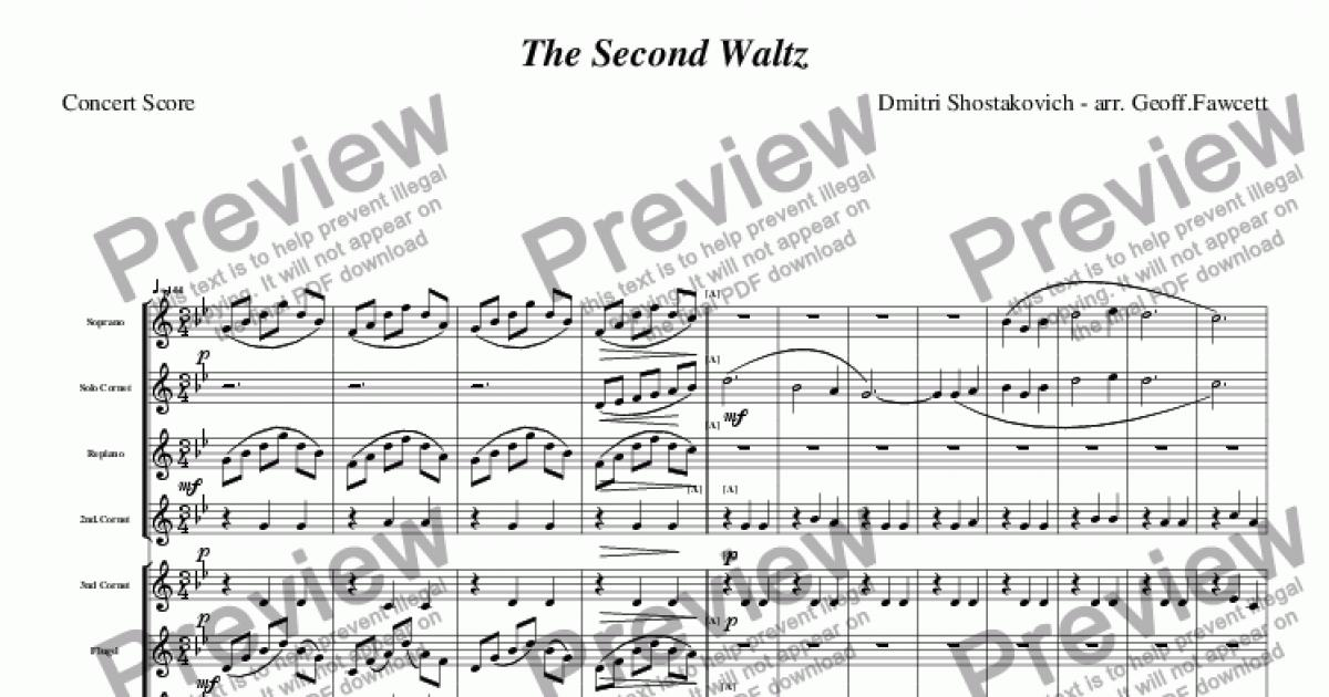 Shostakovich Waltz 2 Imslp