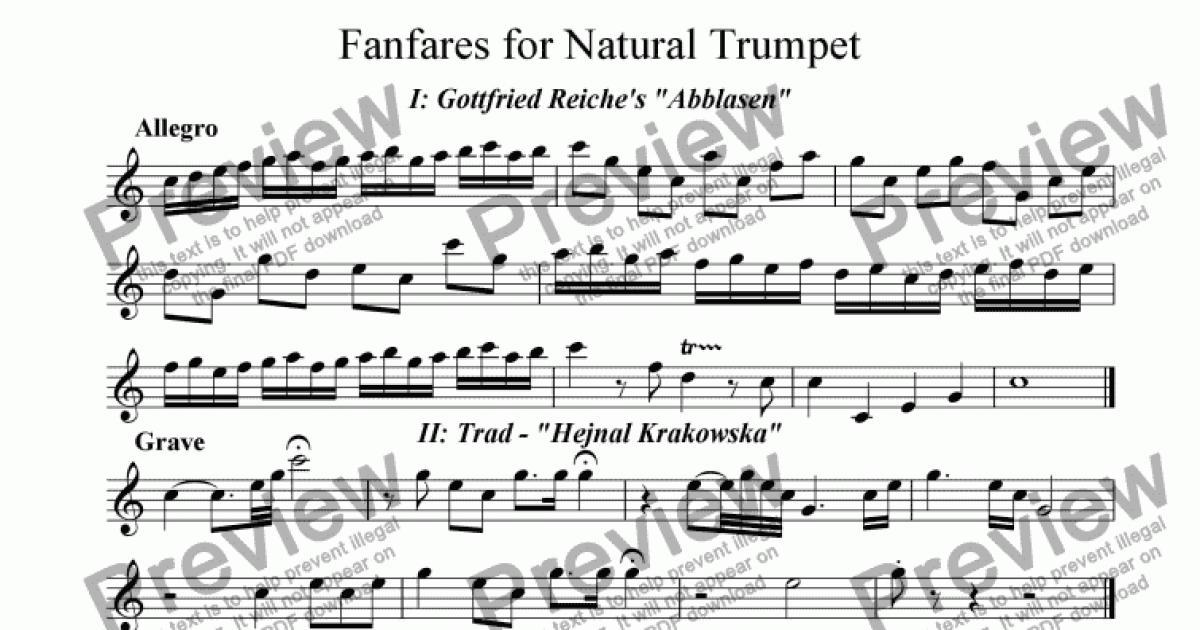 The swan trumpet sheet music