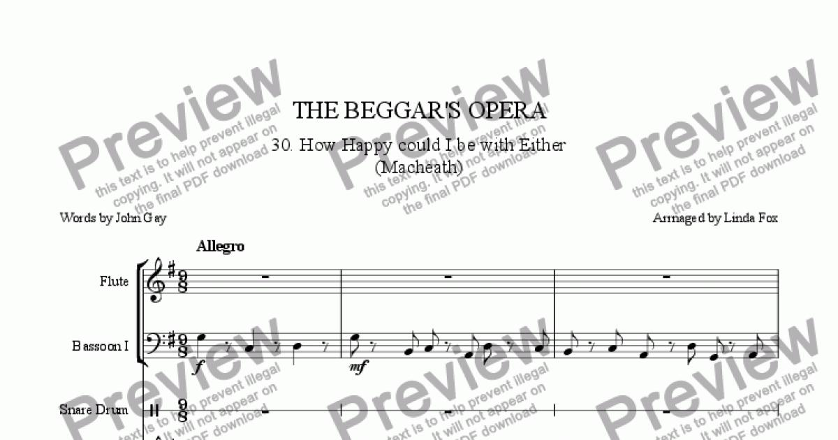 The Beggar's Opera: 30  How Happy Could I be with Either for Large mixed  ensemble by trad  - Sheet Music PDF file to download