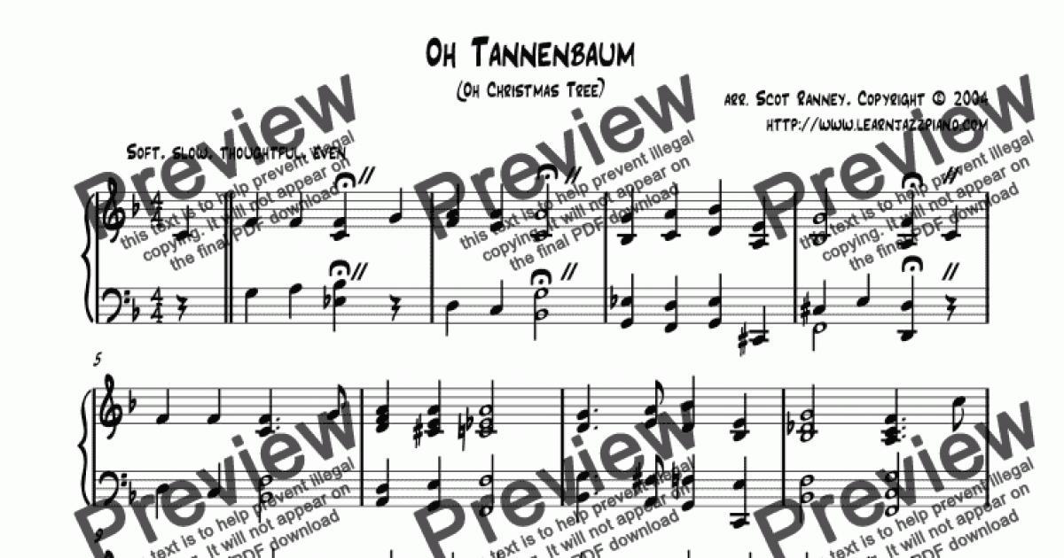 Oh Christmas Tree For Jazz Piano (2006)