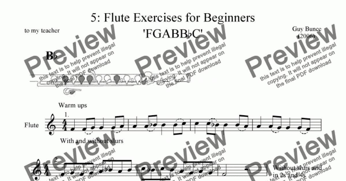 5 Flute Exercises For Beginners Fgabbbc Sheet Music Pdf File
