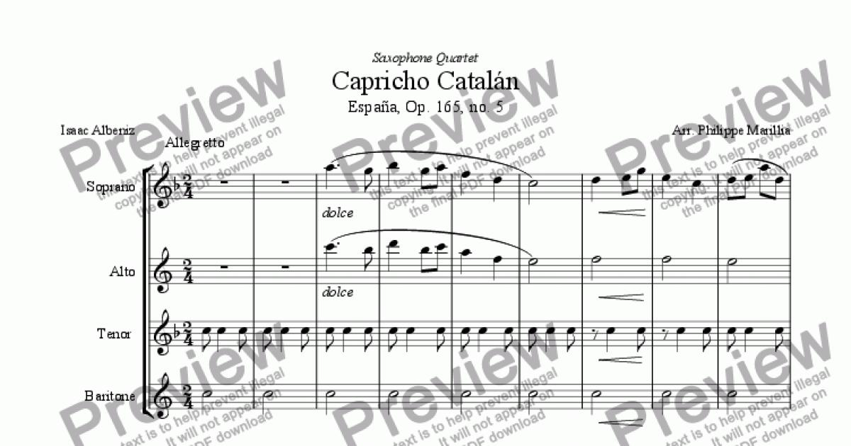 Capricho pdf albeniz catalan