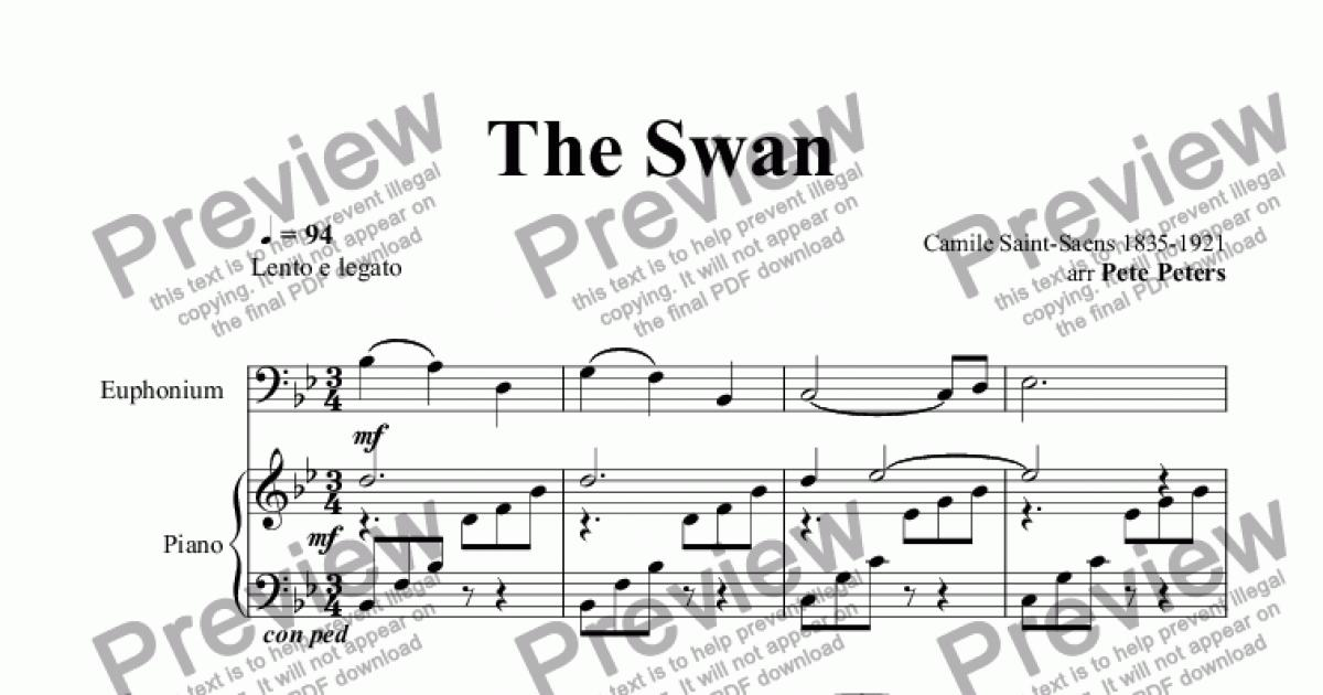 The swan free flute sheet music