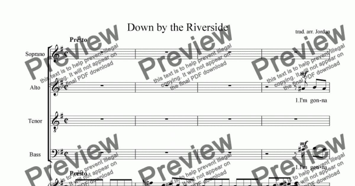 Down by the riverside noten pdf files