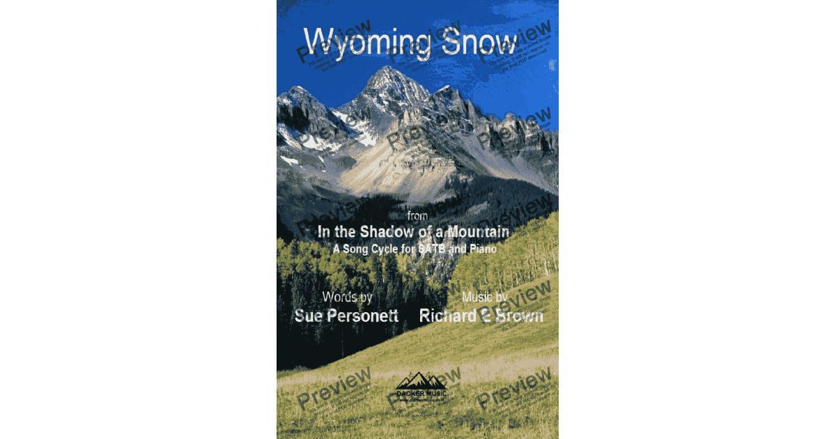 wyoming snow - download sheet music pdf file  score exchange