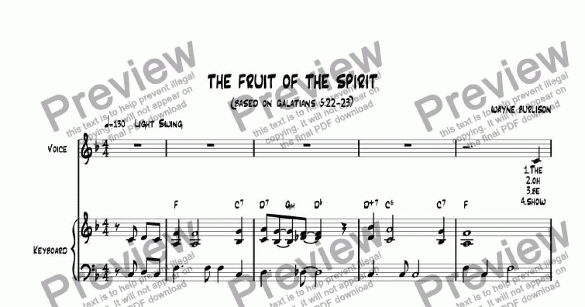 The Fruit of the Spirit - Download Sheet Music PDF file