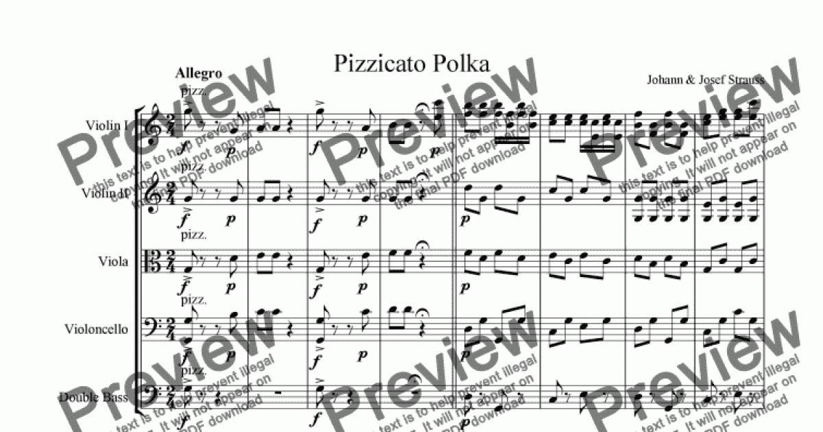 pizzicato polka string quartet pdf