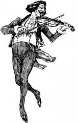 Cover art for Violin part from Concertino in the Hungarian Style