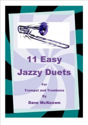 Cover art for 11 Easy Jazz Duets for Trumpet and Trombone