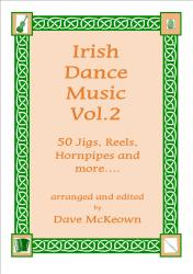 Cover art for Traditional Dance Music of Ireland GDGBD tab for Banjo Vol.2. 50 Jigs, Reels and more
