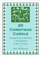 Cover art for Alto Saxophone 1 part from  20 Favourite Christmas Carols for Saxophone Quartet, SATB or AAAT