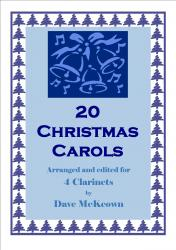 Cover art for Clarinet 1 part from  20 Favourite Christmas Carols for Clarinet Quartet