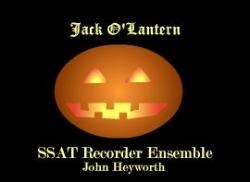 Cover art for Tenor Recorder part from Jack O'Lantern