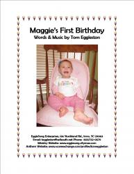 Cover art for Piano part from Maggie's First Birthday