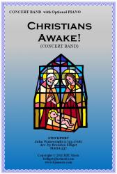 Cover art for Bass Clarinet in B^b part from Christians Awake! (Christmas) - Concert Band
