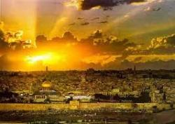 Cover art for Trumpet 1 part from Jerusalem Sunrise