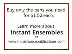 Cover art for Part A Treble part from Instant Ensemble: I've Got...