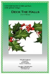Cover art for Tenor Saxophone part from Deck The Halls (Christmas) - Concert Band