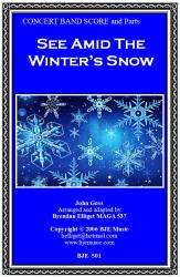 Cover art for Drum Set part from See Amid The Winter's Snow (Christmas) - Concert Band