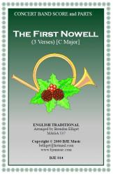 Cover art for Horn 1 and 3 in F part from The First Nowell (Christmas) - Concert Band