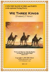 Cover art for Clarinet 2 part from We Three Kings (Christmas) - Concert Band
