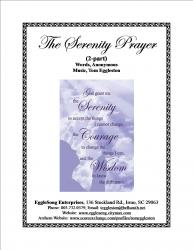 Cover art for Piano part from The Serenity Prayer Benediction (2-Part)