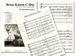 Cover art for Trumpet 1 in B^b part from Kanon C-Dur Brass Quartet