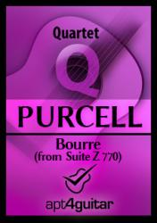 Cover art for Guitar 2 part from Bourre (from Suite Z.770) for guitar quartet
