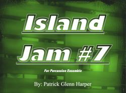 Cover art for Bass Drum part from Island Jam #7 - for Percussion Ensemble