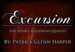 Cover art for Clarinet 2 part from Excursion - for Double Wind Quintet (wind decet)