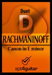 Cover art for Guitar 1 part from Canon in E minor for guitar duet