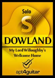 Cover art for My Lord Willoughby's Wellcome Home for solo guitar