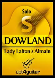 Cover art for Lady Laiton's Almain for solo guitar
