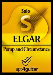 Cover art for Pomp and Circumstance for solo guitar