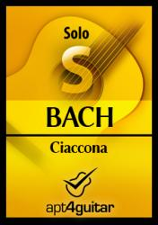 Cover art for Ciaccona BWV 1004 for solo guitar