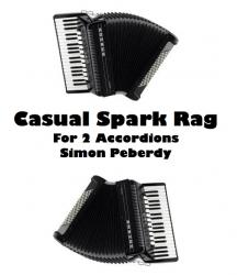 Cover art for Accordion II part from Casual Spark Rag for 2 Accordions