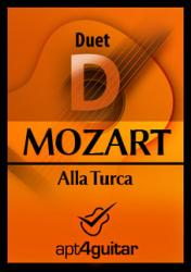 Cover art for Guitar 2 part from Alla Turca for guitar duet