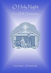 Cover art for Sop. Glock. part from O Holy Night For Orff Ensemble