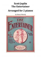 Cover art for Piano II part from The Entertainer arranged for 2 pianos