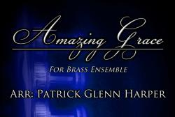 Cover art for Trumpet 1 part from Amazing Grace - for Brass Ensemble