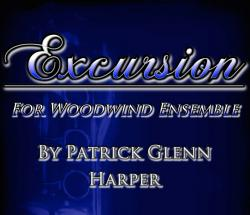 Cover art for 2nd Clarinet part from Excursion for Woodwind Ensemble