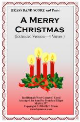 Cover art for 2nd Cornet in B^b part from A Merry Christmas (Extended Version - 4 Verses) - Brass Band
