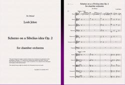 Cover art for Scherzo on a a Sibelius idea Op. 2 for chamber orchestra