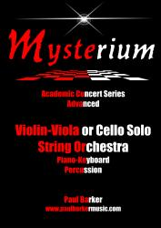 Cover art for Violin 3/ Viola Db. part from Mysterium (String Orchestra and Soloist)