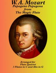 "Cover art for Flute 2 part from Papageno Papagena from ""The Magic Flute"""
